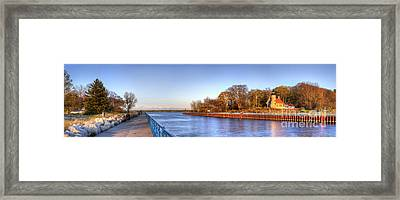 White River Lighthouse And Channell Framed Print