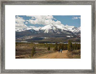White River National Forest Trail Framed Print by Jim West