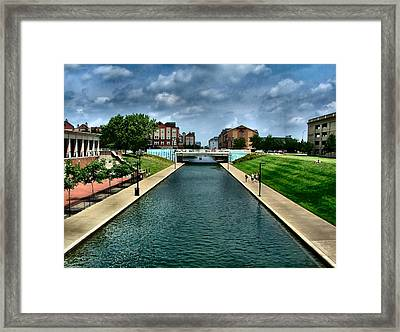 White River Park Canal In Indy Framed Print