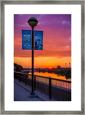 White River Sunset Framed Print