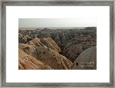 White River Valley Overlook Badlands National Park Framed Print