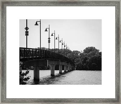 White Rock Bridge Framed Print by Jeff Mize