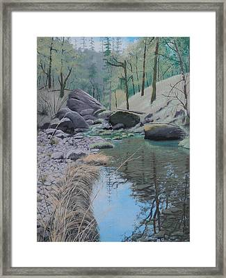 White Rock Creek Framed Print