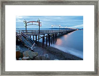 White Rock Pier Framed Print