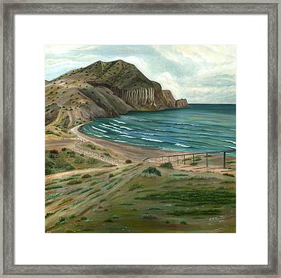 White Rock's Beach Framed Print by Angeles M Pomata