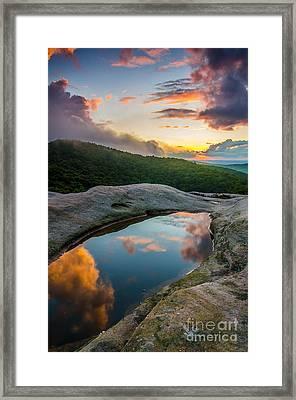 White Rocks Sunset Framed Print by Anthony Heflin