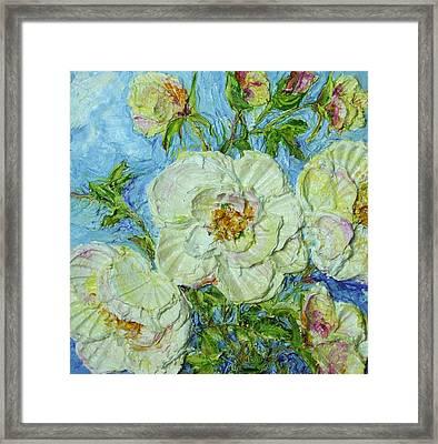 White Roses Framed Print by Paris Wyatt Llanso