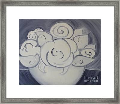 White Roses Framed Print by Teresa Hutto