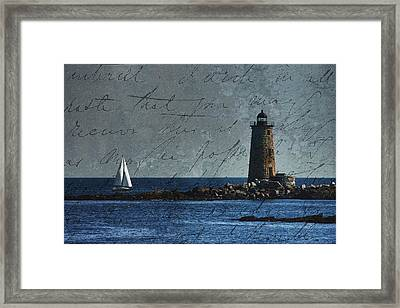 Framed Print featuring the photograph White Sails On Blue  by Jeff Folger