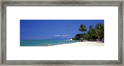 White Sand Beach Penang Malaysia Framed Print