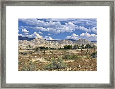 White Sand Hills Montrose Colorado Framed Print by James Steele