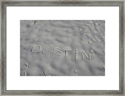 White Sand Of Destin 002 Framed Print