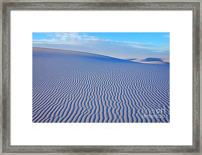 White Sand Patterns New Mexico Framed Print by Bob Christopher