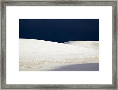 White Sands Dark Sky Framed Print
