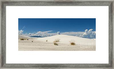 White Sands Landscape Framed Print by Marilyn Smith