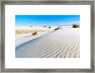 White Sands - Morning View White Sands National Monument In New Mexico. Framed Print by Jamie Pham