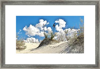 White Sands National Monument Framed Print by Marilyn Smith