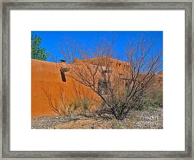 White Sands New Mexico Adobe 02 Framed Print by Gregory Dyer