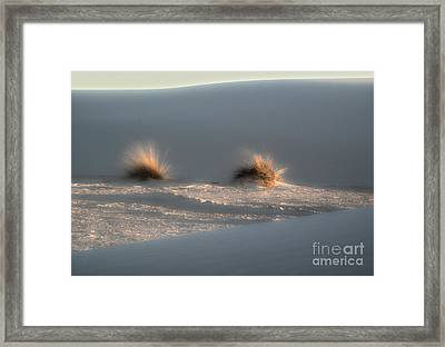 White Sands New Mexico Dune Framed Print by Gregory Dyer