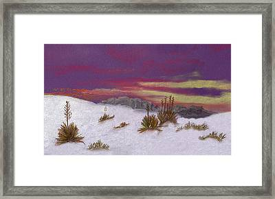 White Sands New Mexico Framed Print