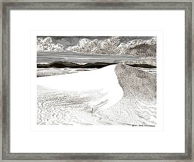 White Sands New Mexico Framed Print by Jack Pumphrey