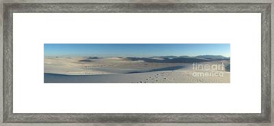 White Sands New Mexico Panorama 02 Framed Print by Gregory Dyer