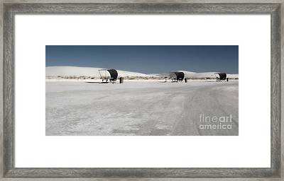 White Sands New Mexico Rest Area Framed Print by Gregory Dyer