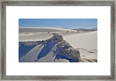 White Sands New Mexico Sand Rift Framed Print by Gregory Dyer