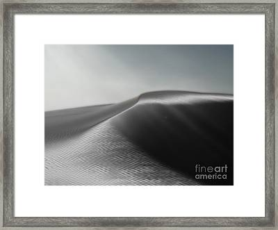 White Sands New Mexico Silver Dune Framed Print by Gregory Dyer