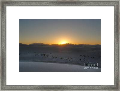 White Sands New Mexico Sunset Framed Print by Gregory Dyer