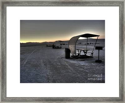 White Sands New Mexico Sunset Twilight 02 Framed Print by Gregory Dyer