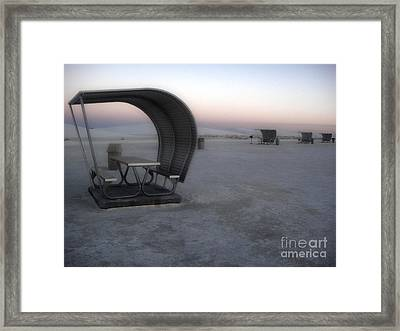 White Sands New Mexico Sunset Twilight Framed Print by Gregory Dyer