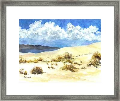 White Sands New Mexico U S A Framed Print by Carol Wisniewski
