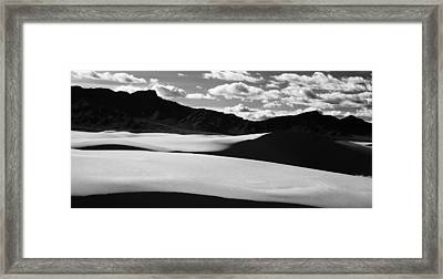90163 White Sands Nm Framed Print