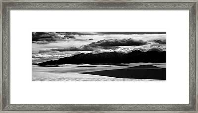 90160 White Sands Nm Panorama Framed Print