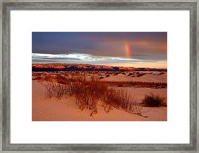 Framed Print featuring the photograph White Sands Sunset by Christopher McKenzie