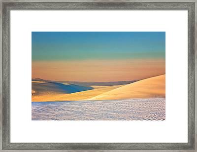 White Sands Sunset Framed Print