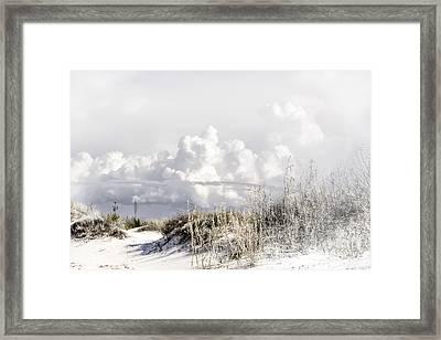 White Sands Winter Framed Print