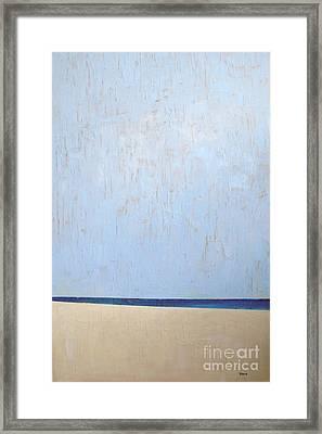 White Sandy Beach Framed Print by Vesna Antic