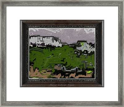 Framed Print featuring the painting White Scales Ws2 by Pemaro