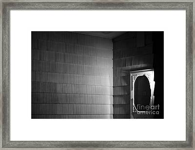 White Screen Door Framed Print by Steven Macanka