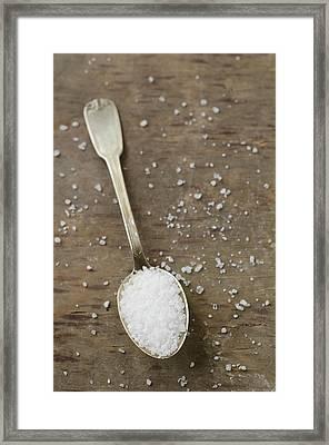 White Sea Salt Framed Print