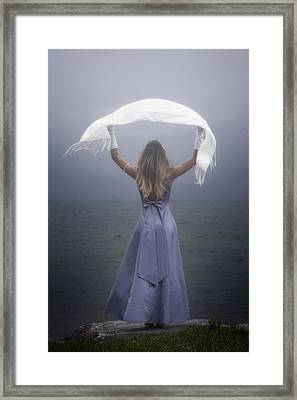 White Shawl Framed Print