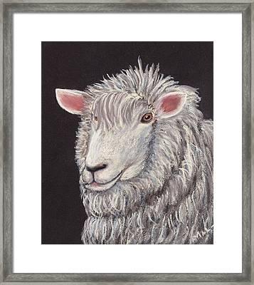 White Sheep Framed Print by Anastasiya Malakhova
