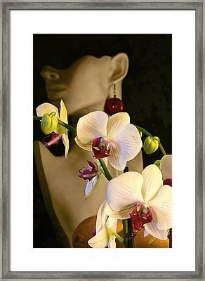 White Shoulders Framed Print
