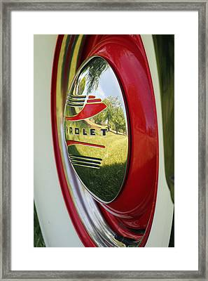 White Sidewalls On Chevy Framed Print