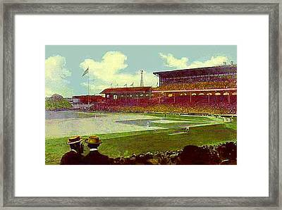 White Sox Ball Park In Chicago Il Around 1915 Framed Print by Dwight Goss