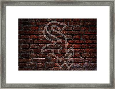 White Sox Baseball Graffiti On Brick  Framed Print by Movie Poster Prints