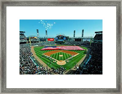 White Sox Opening Day Framed Print by Benjamin Yeager