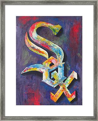 Chicago White Sox Baseball Framed Print by Dan Haraga